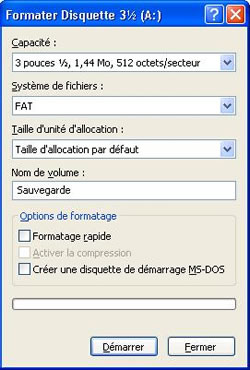 disquette de formatage