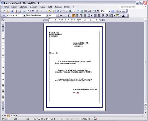 Fib Formation à Word 2003 Gérer La Mise En Page D Un